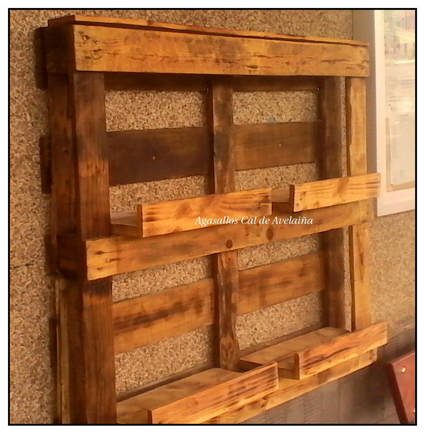 Agasallos cal de avelai a estanterias r sticas para macetas - Macetas hechas con palets ...