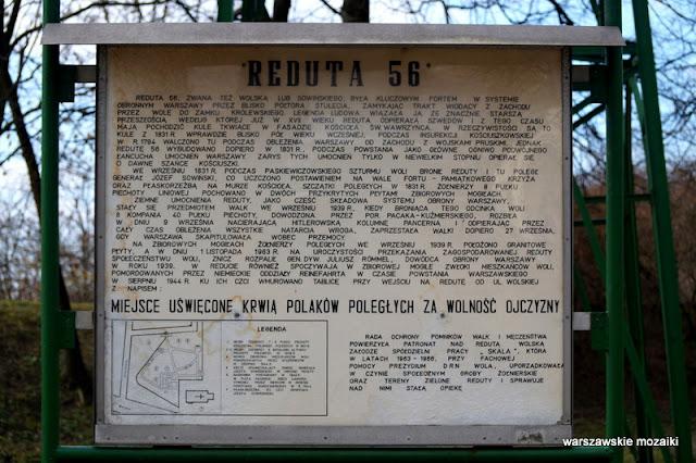 Warszawa Warsaw Wola reduta nr 56 fort Sowińskiego obrona Warszawy