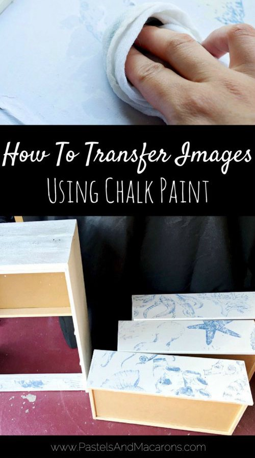 Image Transfer on Wood Furniture with Chalk Paint