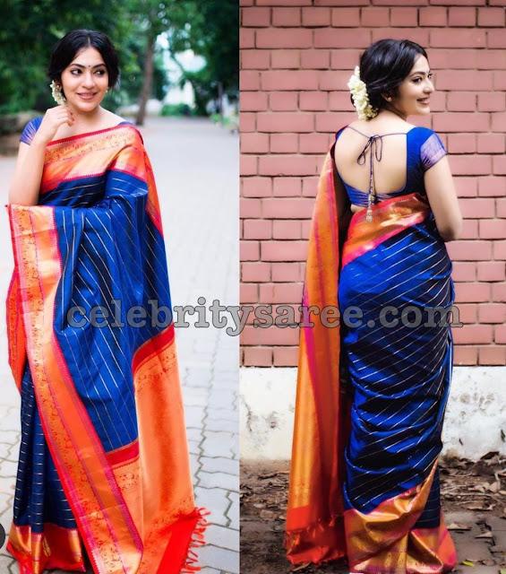 Ramya Blue Silk Saree