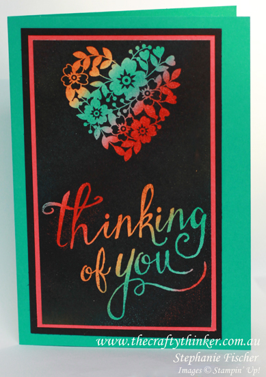 Stampin up, #thecrafty thinker, joseph's coat technique, #crazycraftersbloghop, Bloomin Love