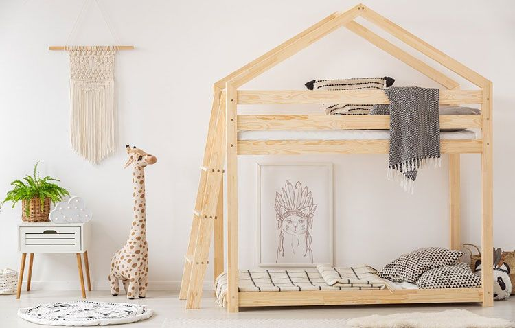 łóżko domek podwójne