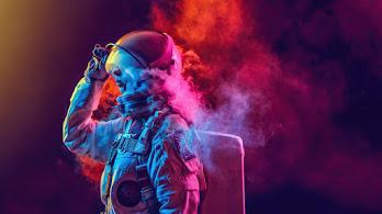Astronaut, Smoke, Digital Art, 4K, #6.2528