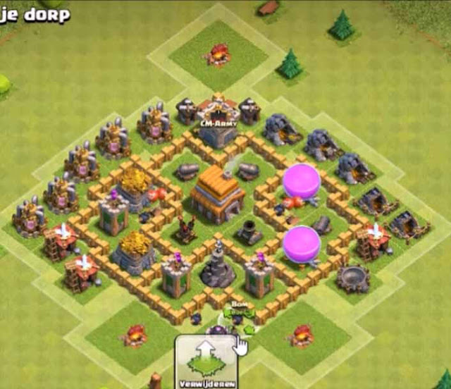 Base COC TH5 Trophy 5