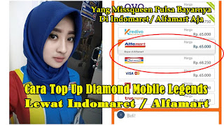 Cara Top Up Diamond Mobile Legends Lewat Indomaret / Alfamart