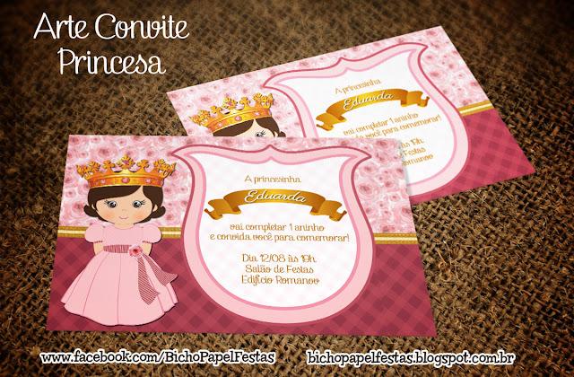 Arte Convite Princesa