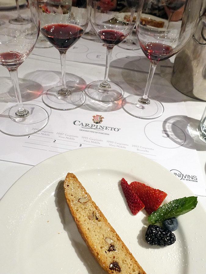 EVOO Ristorante Biscotti with Carpineto Wines