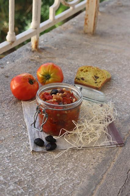 Cuillère et saladier : Caponata