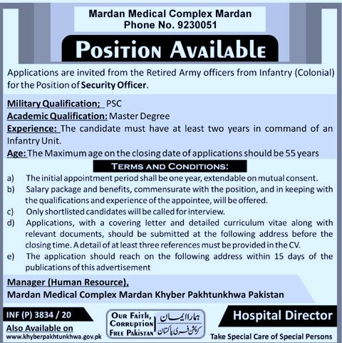 Mardan Medical Complex Jobs 2020 | jobs in KPk