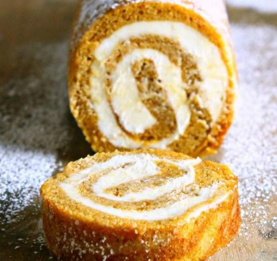 Pumpkin Roll Recipe With Cream Cheese Filling #desserts #fallrecipes