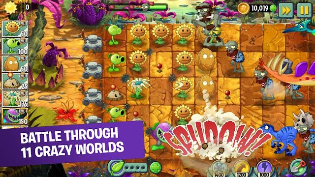 Download Plant vs Zombies 2 Mod (Unlimited Coins/Gems) + Data