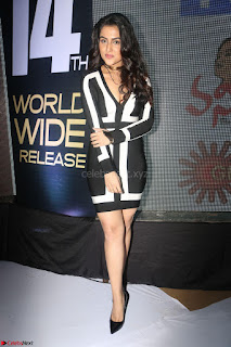 Ananya Soni in a Deep neck white blackl Dress at Shamanthakamani pre release function ~  Exclusive 060.JPG