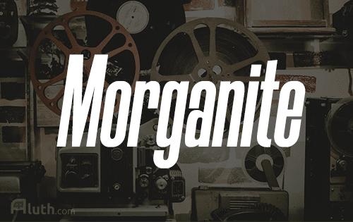 Morganite english font