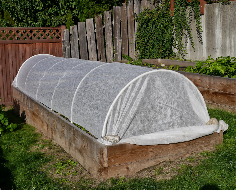 Building Hoop House for a Raised Garden Bed - Backwoods Mama