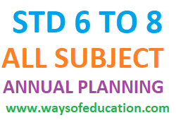 STD 6 TO 8 ALL SUBJECT VARSHIK AYOJAN (ANNUAL PLANNING) BY SUJAN PATEL