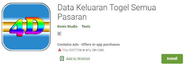 Download Sekarang Juga Aplikasi Data Keluaran Togel Semua Pasaran