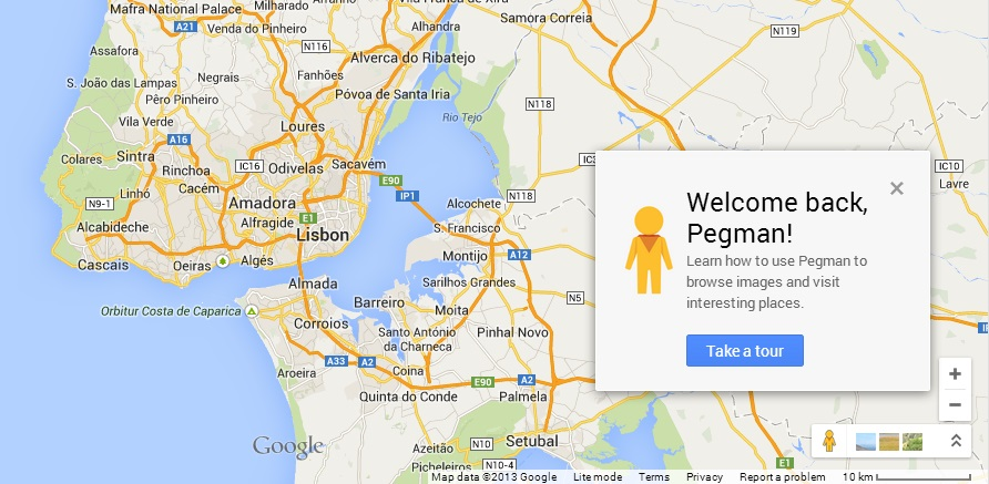 almada mapa google Google Maps volta a ter o Pegman e adiciona informação do Waze  almada mapa google