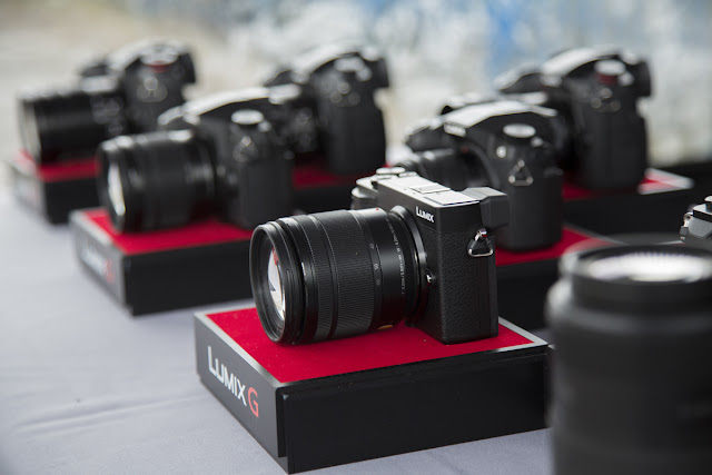 Images of Panasonic Lumix cameras and lenses