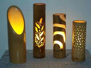 Lampu Tidur dari Bambu