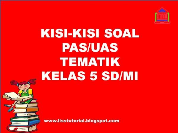 Kisi-kisi Soal PAS/UAS Tematik Kelas 4 SD/MI Semester 1 Kurikulum 2013