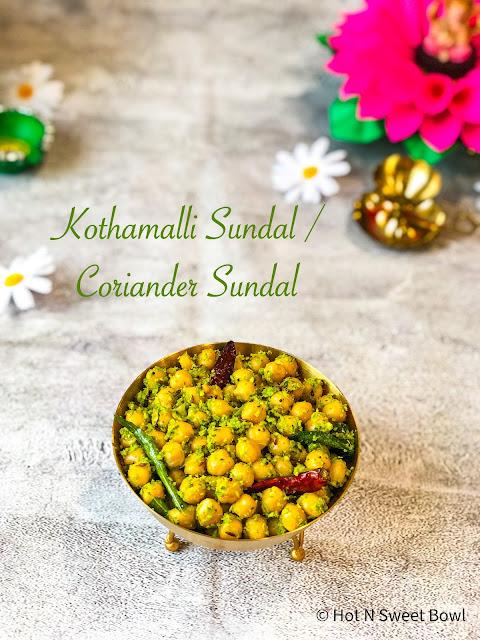 kothamalli-sundal