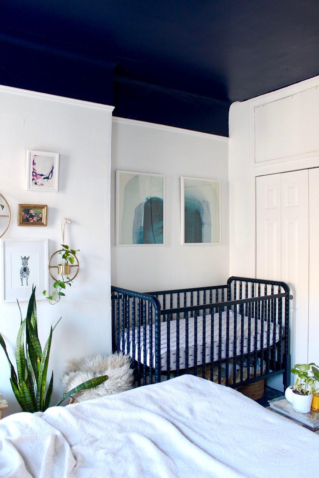 Boho shared master bedroom x nursery tfdiaries by megan zietz Master bedroom shared with nursery