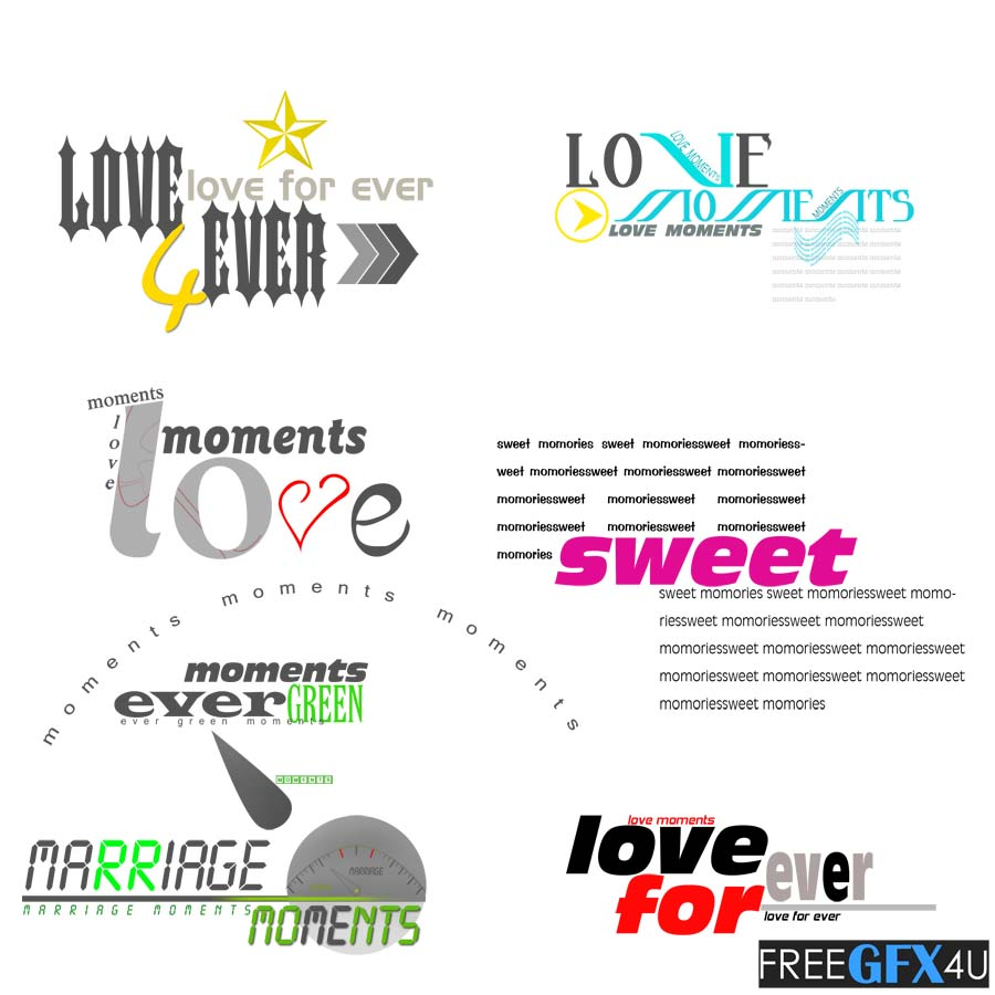 Marriage Moments Love English Text PSD Layers