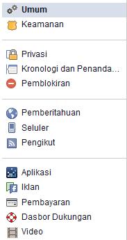 cara blokir akun facebook