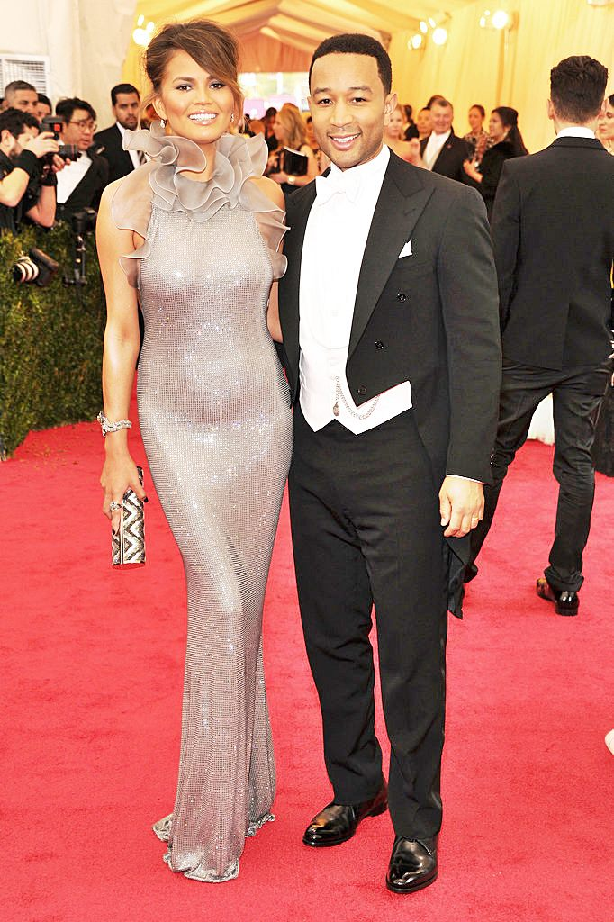Fashionable Couples at the 2014 Met Gala Chrissy Teigen and John Legend in Ralph Lauren