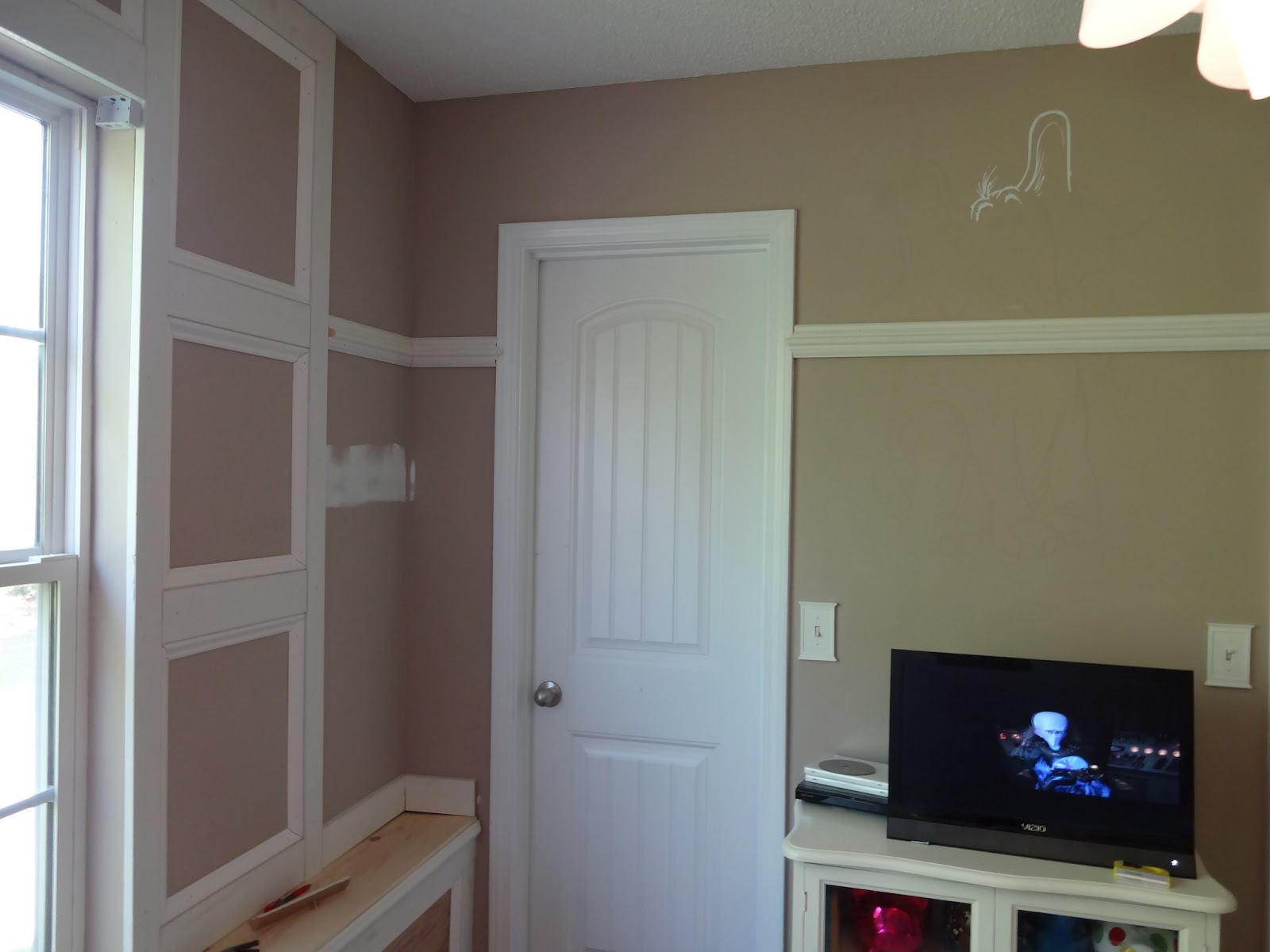 Home Depot Chair Rail Molding Steamer Cushions Argos Bedroom Makeover With Window