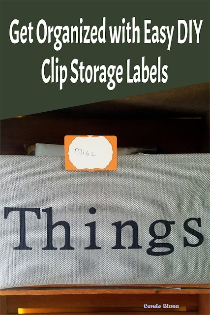 how to make clip on storage container labels