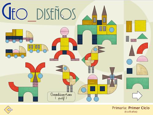 Geodiseños. Diseños figurativos con formas básicas. Creatividad,...