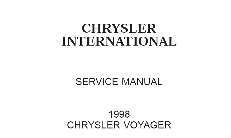 1998 chrysler voyager service manual download manual pdf online 1998 chrysler voyager service manual publicscrutiny Gallery