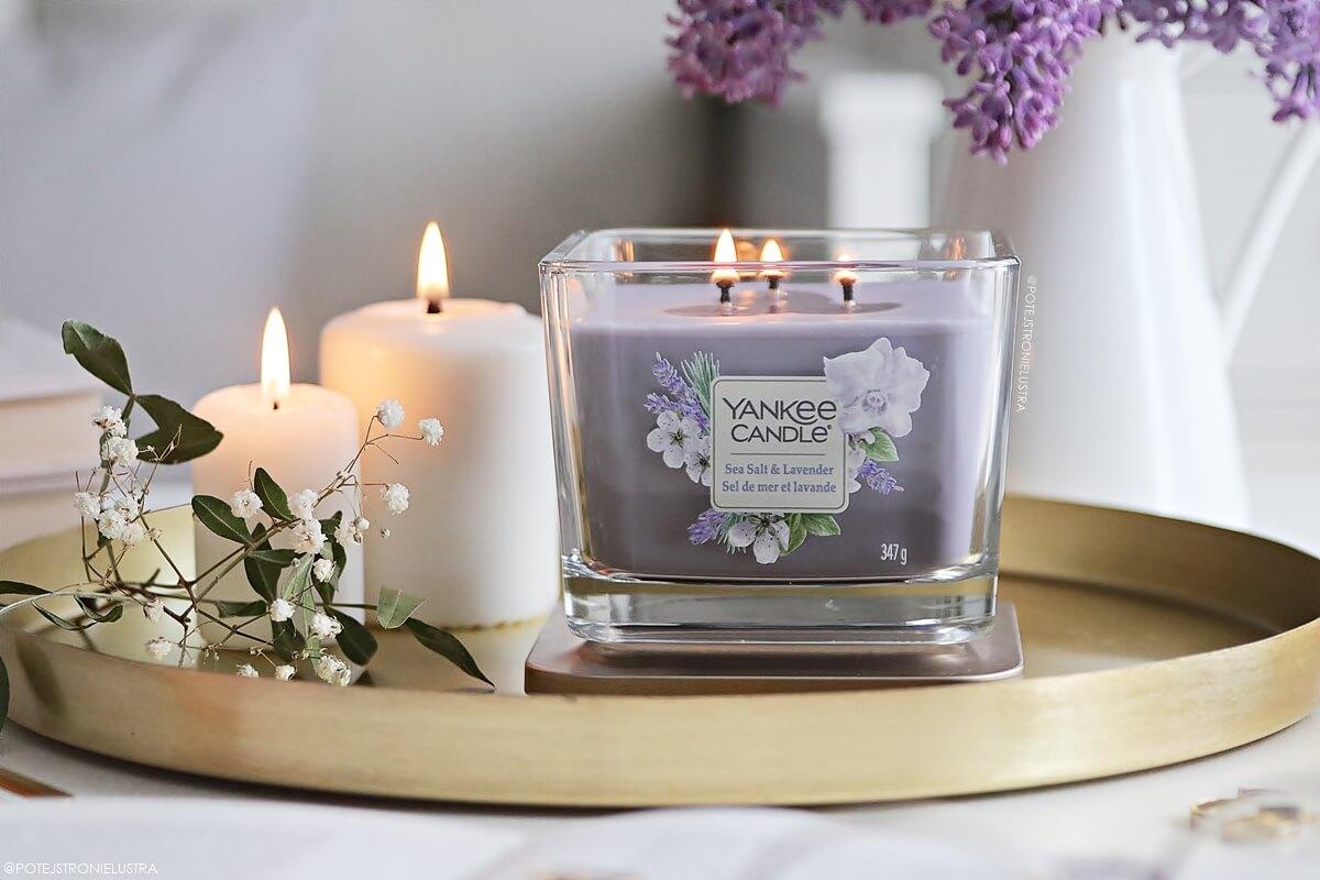 yankee candle sea salt & lavender średnia świeca zapachowa
