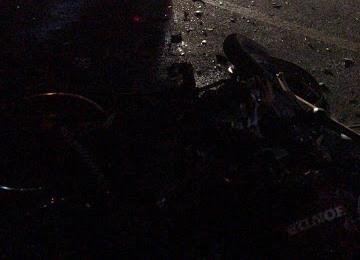 Colisão entre caminhão e moto deixa um morto na PB 420 na região de Cajazeiras