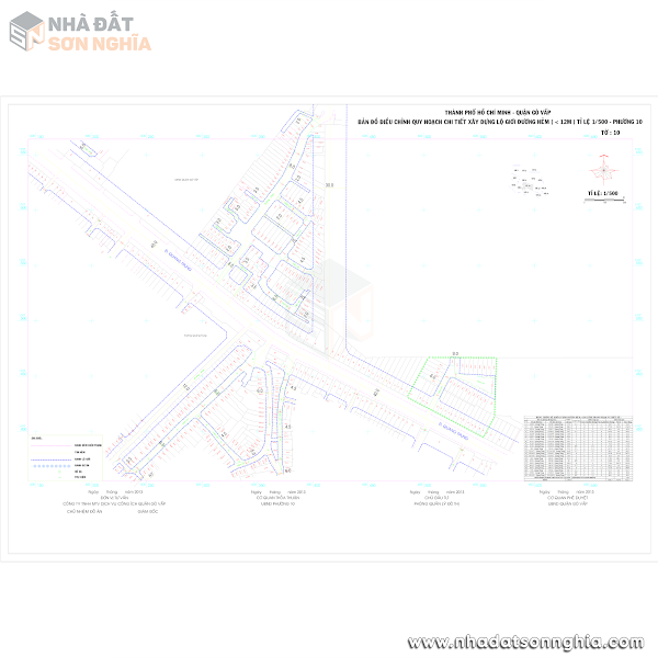 Bản đồ lộ giới hẻm phường 10 quận Gò Vấp