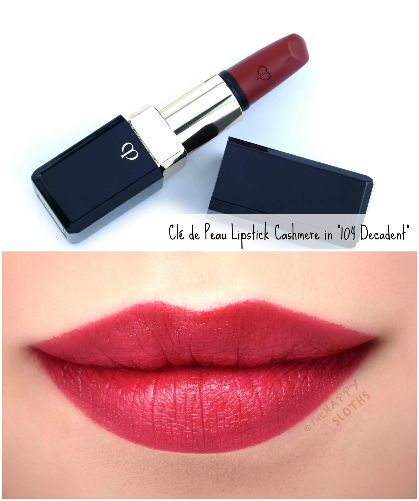 "Clé de Peau | Lipstick Cashmere in ""104 Decadent"": Review and Swatches"