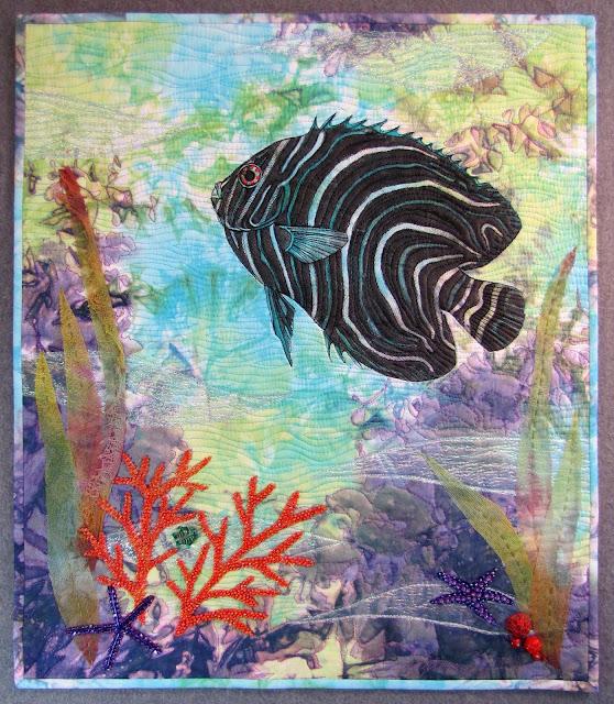From tonya 39 s studio dallas quilt show 2016 35th anniversary for Blue fish dallas