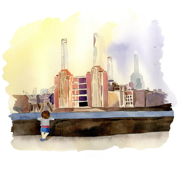 London watercolour illustrator, watercolour, anastasiya levashova, anastasia levashova, levashova art, artist london, illustrator london, watercolour architecture, freelance illustrator, uk, england, battersea, battersea painting, battersea drawing, london watercolour