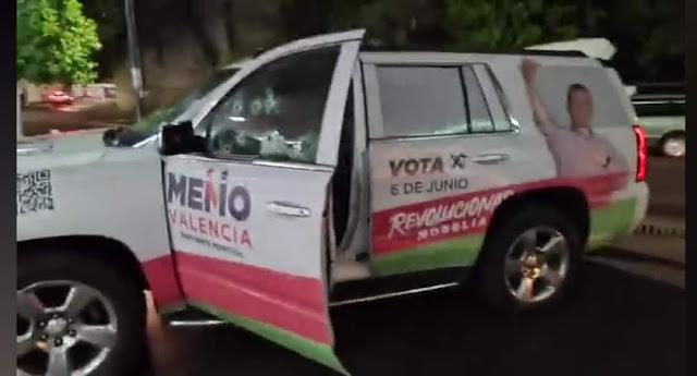 Atentado contra candidato a presidencia municipal de Morelia