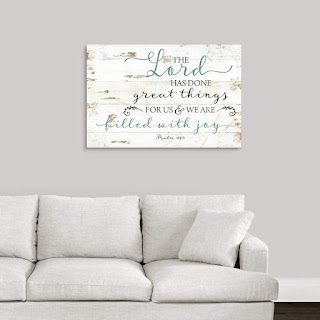 Psalm 126:3 Canvas Wall Art