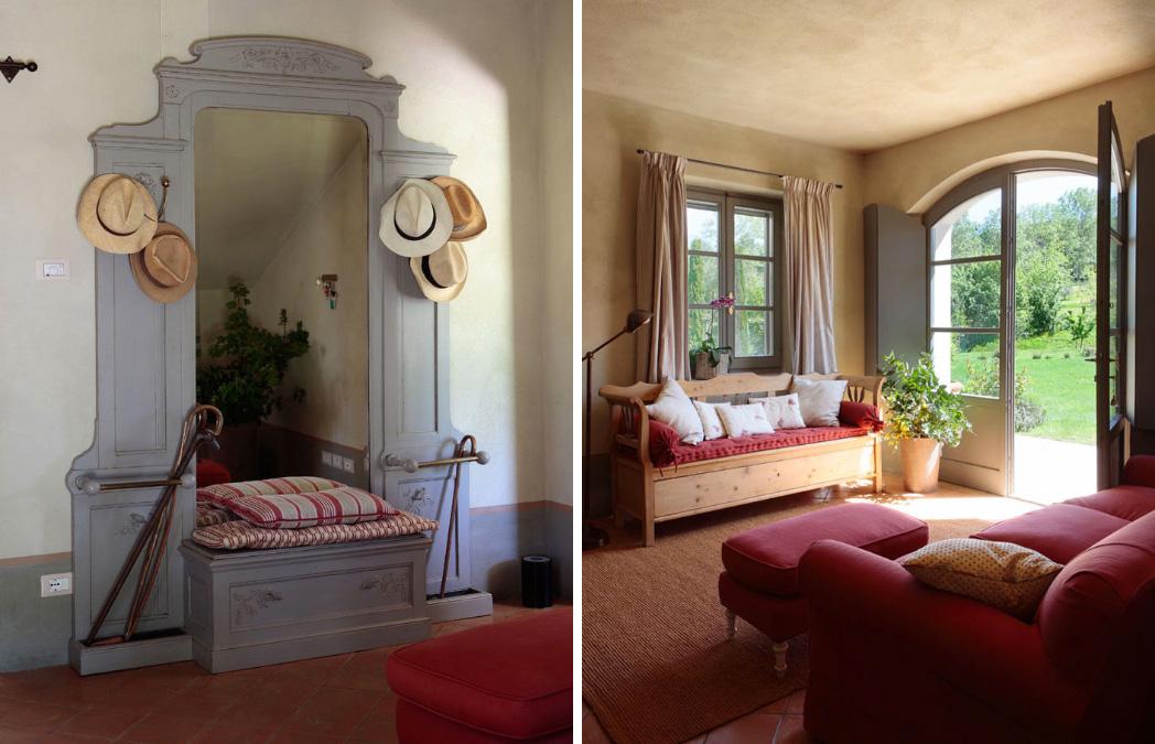Un casolare in toscana shabby chic interiors for Arredamento entrata