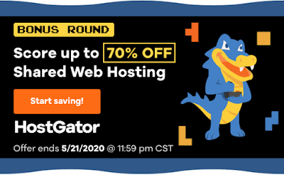 HostGator Coupon Code  2020 - Up To 70% OFF ($2.08/mo*)