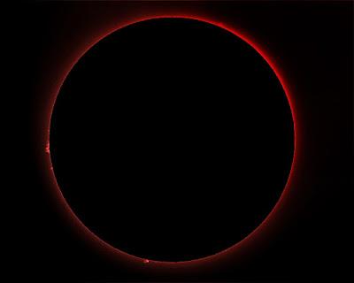 Cromosfera solar i protuberàncies 6/07/2018  9:38 UT