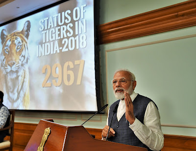 PM Modi releases results of 4th cycle of All India Tiger Estimation - 201