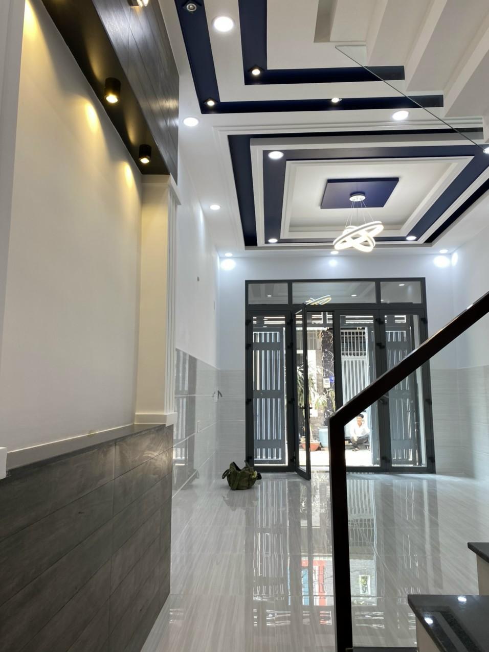 Bán nhà Đường số 5 Bình Hưng Hòa quận Bình Tân mới xây 4 tấm 4x12m