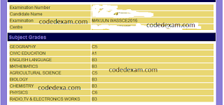 CODEDEXAM REAL WAEC GCE 2016 QUESTION AND ANSWERS