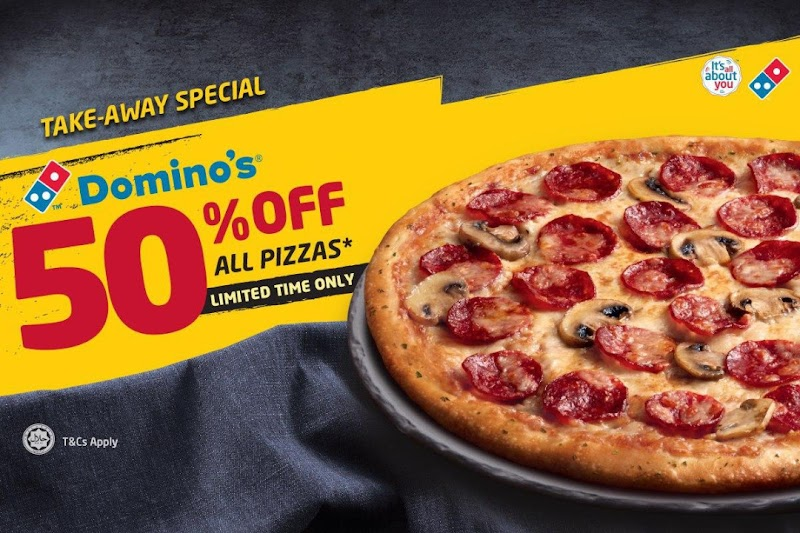 Cinta Dikongsi Kembali  Nikmati potongan 50% untuk SEMUA piza!