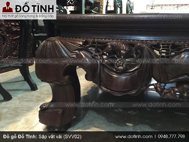 Sập vắt vải SVV02 - Sập gỗ đơn giản hiện nay