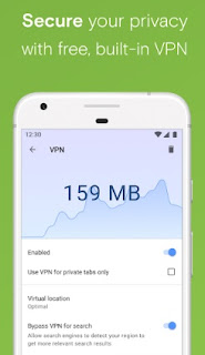 Free, unlimited and built-in VPN